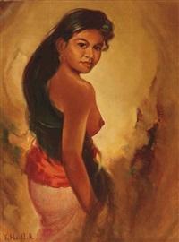 indonesian girl by sudjono abdullah