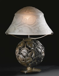 table lamp by daum and edgar brandt