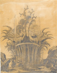 an ornate fountain by emilio terry