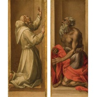 saint francis (+ the penitent saint jerome; pair) by pontormo (jacopo carucci)