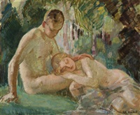 idyll (golden age ii) by magnus enckell