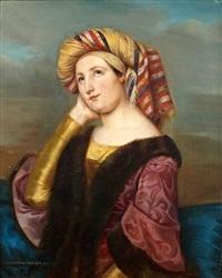 portrait de jeune femme au turban by laure bruyere