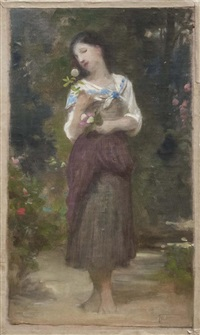 la fleur préférée by william adolphe bouguereau
