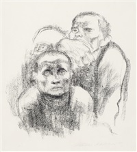 gefangene musik horend (prisoners listening to music) by käthe kollwitz