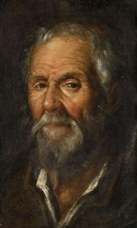 tête de vieil homme by francisco pacheco