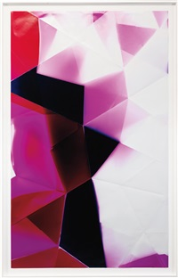 2 sided picture (magenta/red) november 22nd, los angeles, ca, kodak supra, 2008 by walead beshty