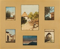 douze paysages (12 works) by jules charles aviat