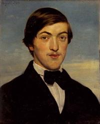 portrait von dr. ludwig august preyß by heinrich von angeli