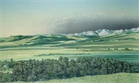 morning shadows, near turner valley by william (bill) h. webb