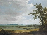 a panoramic view of the dunes of haarlem by pieter jansz post