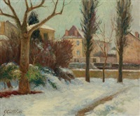 paysage d'hiver by gustave caillebotte
