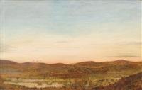coastal landscape with dunes by oscar bojesen