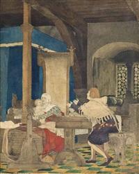 a fourteenth century interior by sir lawrence alma-tadema