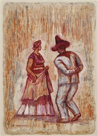 the dance; and two companion works (3 works) by raúl anguiano