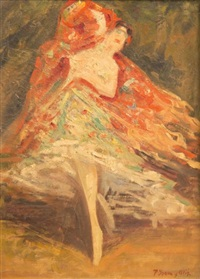 danseuse de flamenco by pere isern alié