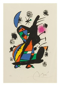 francois chapon (from francis ponge. manuscripts - livres - peintures) by joan miró