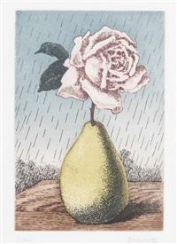 les moyens d'existence: rose et poire by rené magritte