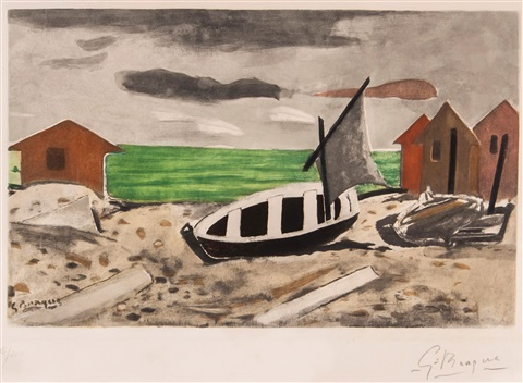 bateau a terre by georges braque