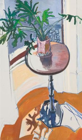 plant in the window by alice neel