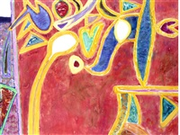 rufous by gillian ayres