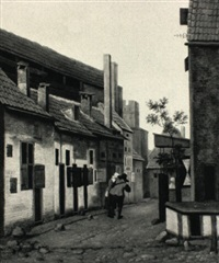 view of a small street in a dutch town by jacobus vrel