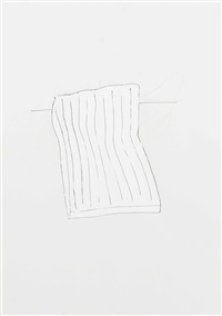 untitled (white bed) by rachel whiteread