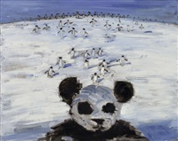 无题( 熊猫与企鹅) by wang xingwei