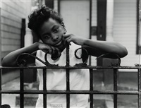 set of five silver prints from street portrait series (set of 5) by dawoud bey