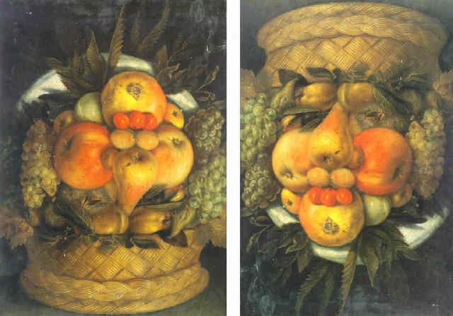 anthropomorphic portrait of a man composed of fruit by giuseppe arcimboldo