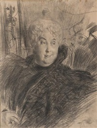 portrait de femme en buste by giovanni boldini