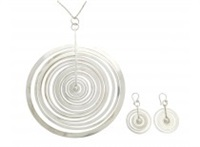 pendant and pair of earrings silvermoon by tapio wirkkala
