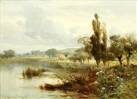 the thames near mapledurham by john horace hooper