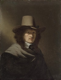 portrait of a man in a brown coat and hat by simon kick