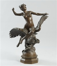 diana riding on an eagle by georges bareau