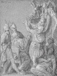 virginius tuant sa fille virginie pour sa chasteté by benedetto caliari