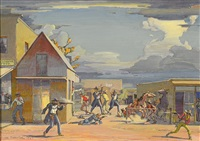 gunfight at the o.k. corral by clyde forsythe