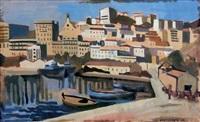 vue du port de bougie, algérie by georges le poitevin