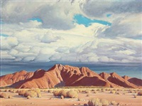 american mountain landscape by clyde forsythe