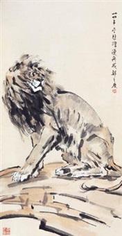 醒狮图 by xu beihong