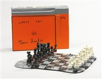 chess set (in 34 parts) by tom sachs