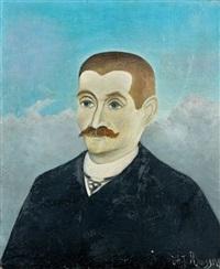 portrait d'homme roux by henri rousseau