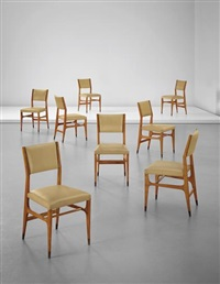 set of eight dining chairs, model no. 111, from an office of a law firm, milan by gio ponti
