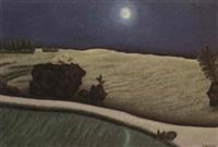 trois lapins au clair de lune by dominique paul peyronnet