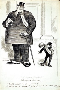 the infant terrible (cartoon for 9/11/1912 issue of life) by arthur (art) young