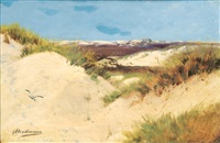 dunes on borkum by christoffer johann drathmann