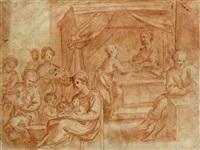 la nascita di san giovanni battista (+ nudo maschile, studio, verso) by astolfo petrazzi
