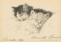 deux chatons by henriette ronner-knip
