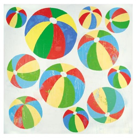 beachball painting 1 by donald baechler