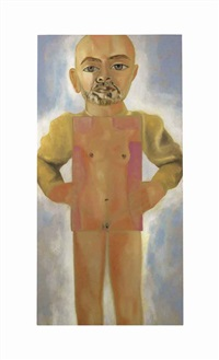 self-portrait of an androgyne by francesco clemente