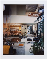 charles and ray eames in their case study house by julius shulman